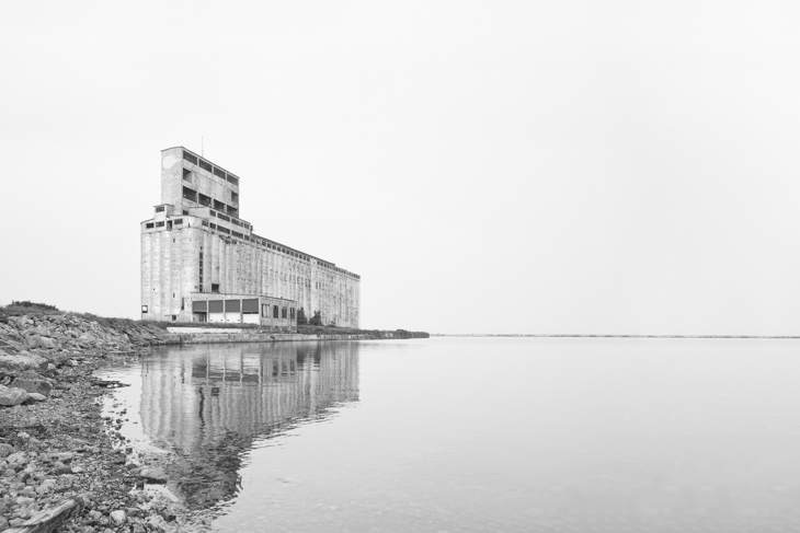 Lonely silo by the lake-2